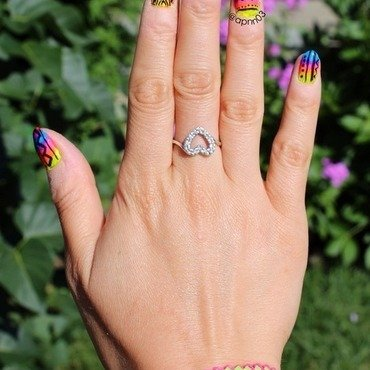 Tribal Amazeballs  nail art by Amanda