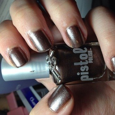 PISTOL polish Coppers on the Chase Swatch by Snowwhitequ33n