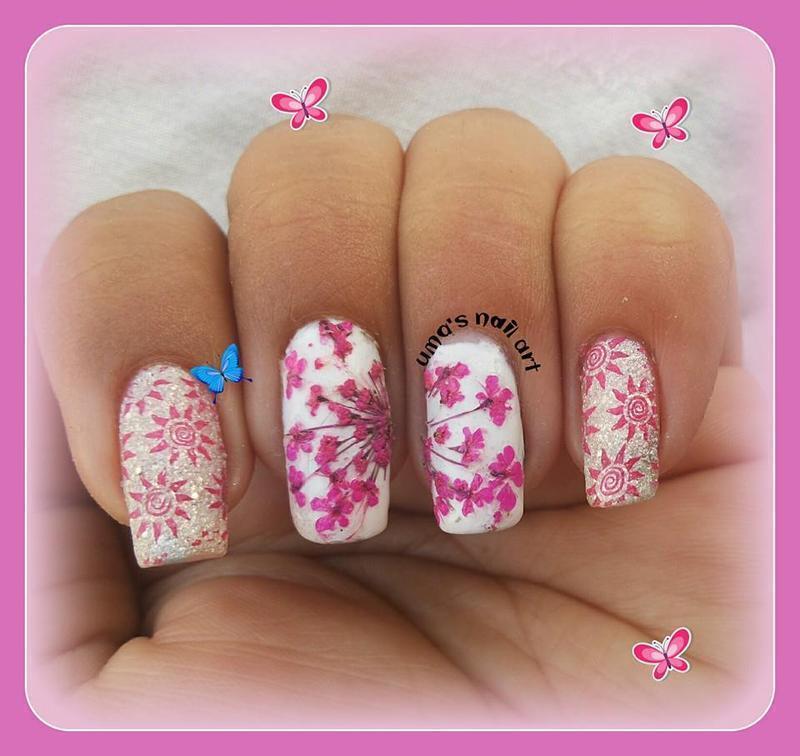 Cherry Blossem nail art by Uma mathur