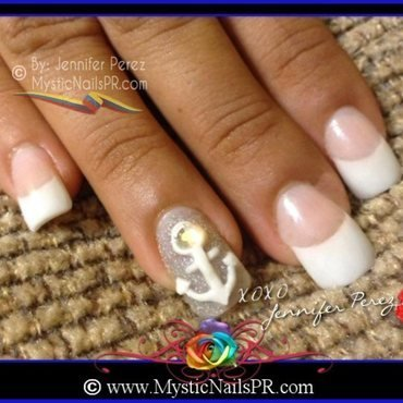 3D Sailor Nails by Jennifer Perez nail art by Jennifer Perez ♥ Mystic Nails