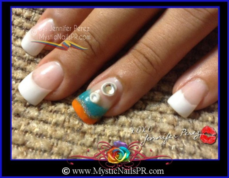 Summer Nails! by Jennifer Perez nail art by Jennifer Perez ♥ Mystic ...