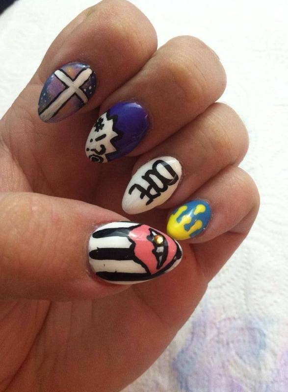 Dope Nails nail art by Beth Marie