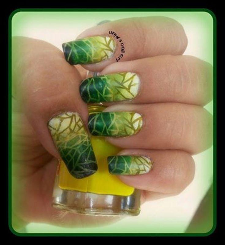 gradient every where... nail art by Uma mathur