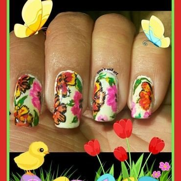 spring every where.. nail art by Uma mathur