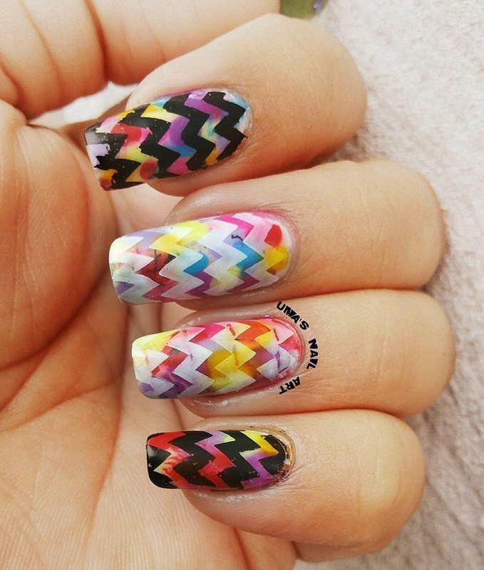 chevrons.... nail art by Uma mathur