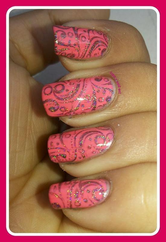 holo shine.... nail art by Uma mathur