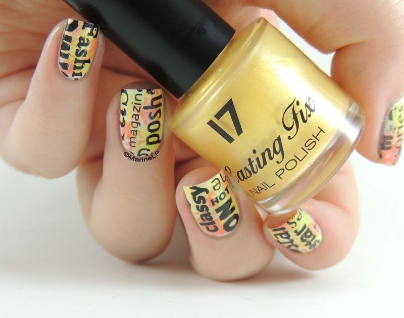 Magazine cover nails nail art by Marine Loves Polish - Nailpolis ...