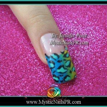 Colorful Leopard Print ♥ by Jennifer Perez nail art by Jennifer Perez ♥ Mystic Nails