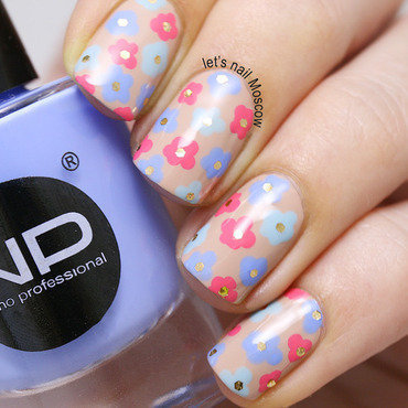 Nano professional nail polish                              nails nailart flower glitter lets nail moscow 4 thumb370f
