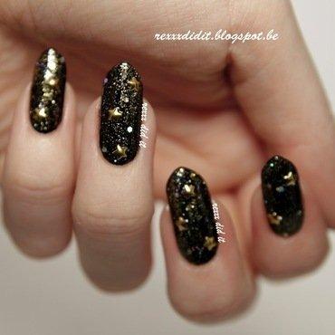 Starlit Sky nail art by Robin