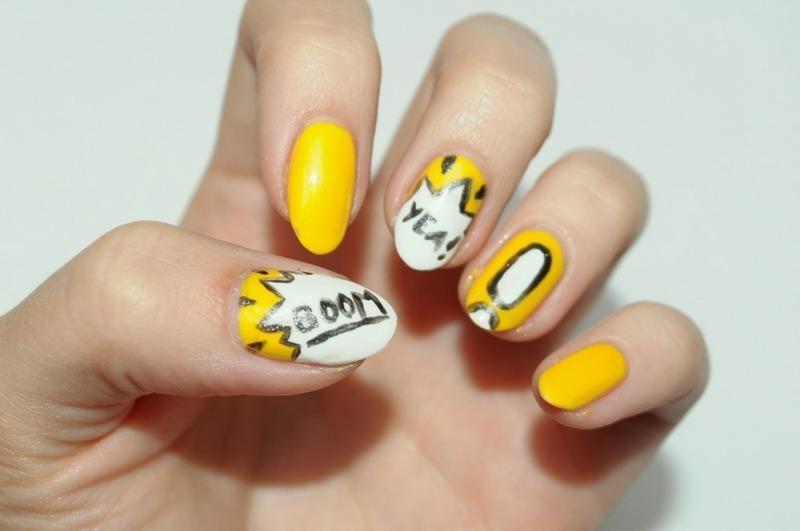 Boom!! nail art by Carolina