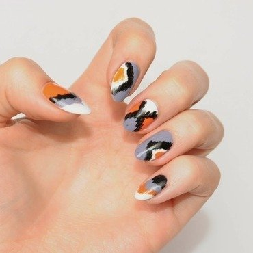 ikat print nail art by Carolina