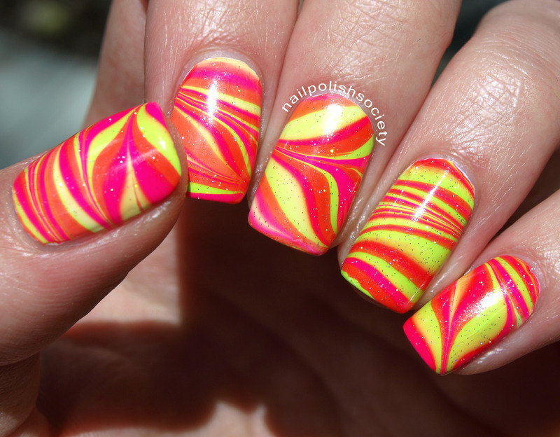 Get Out Your Sunglasses Water Marlbe nail art by Emiline Harris