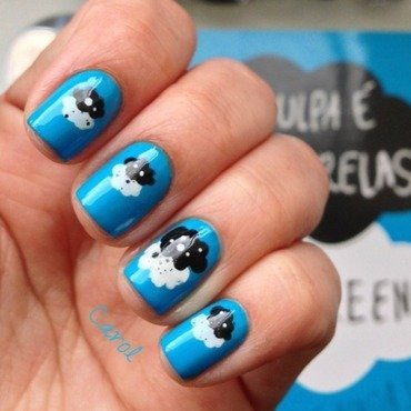 Inspired by a book nail art by Carol_Guimaraes