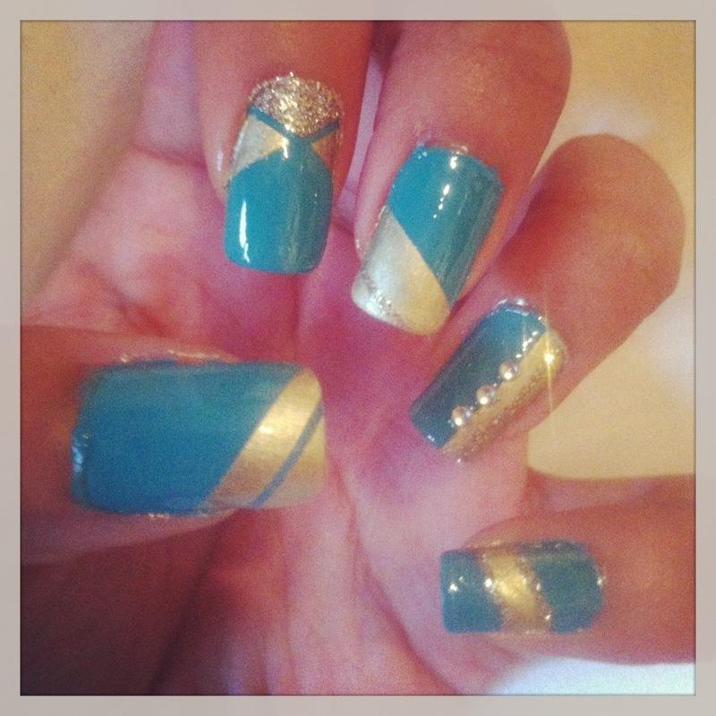 Bluegold Gemstone Nail Art Nail Art By Yasmin Browne Nailpolis