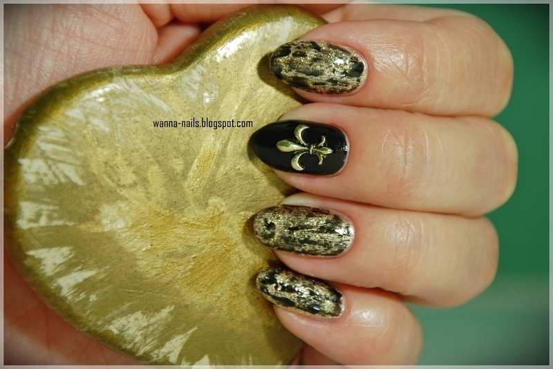 Antique nail art by Oana Chiciu