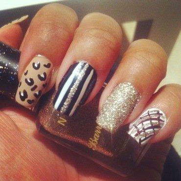 Mix Designs nail art by Yasmin Browne