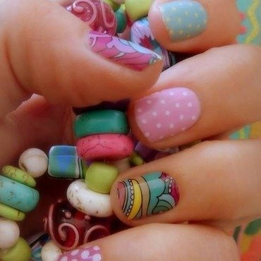 Spring Fun nail art by Karenkay02