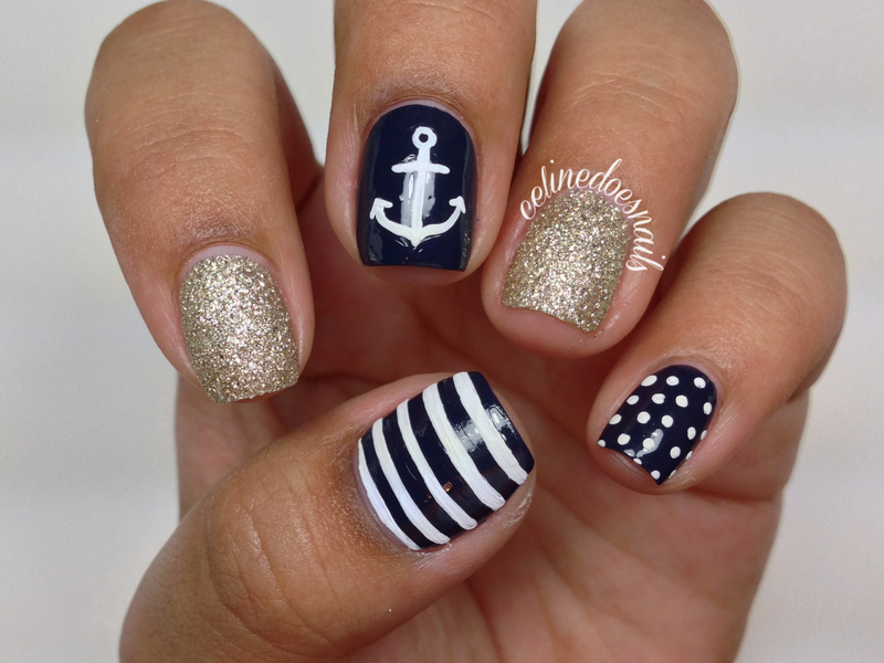 More anchor nail art nail art by celine pea nailpolis museum anchor nail art prinsesfo Gallery