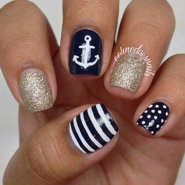 (More!) Anchor Nail Art nail art by Celine Peña