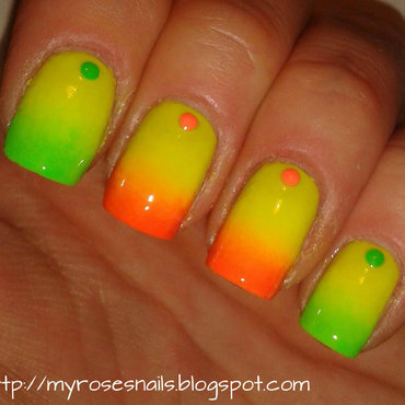 Neons nail art by Ewa