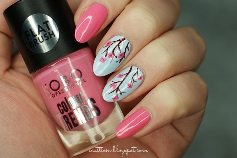 Cherry Flover nail art by ecattiem