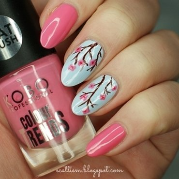 Cherry Flover nail art by ecattiem