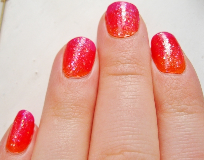 Ombre Sunset Nails nail art by Emily