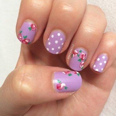 Rosy dots nail art by Annienailz