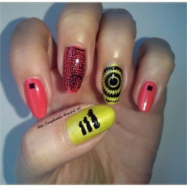 Aztec Nails nail art by Oana  Alexandru