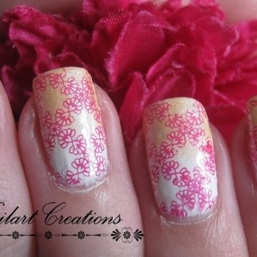 Flower Pattern nail art by Nailart Creations