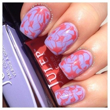 Orange you Purple  nail art by Nails_In_Style