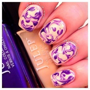 Peach and violet dry marble julep thumb370f