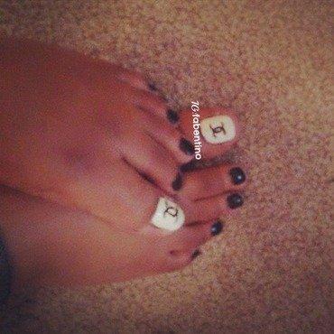 Simple Chanel Art  nail art by Nina Fabentino