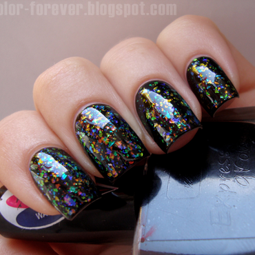 colorful flakies by me [franken] nail art by ania