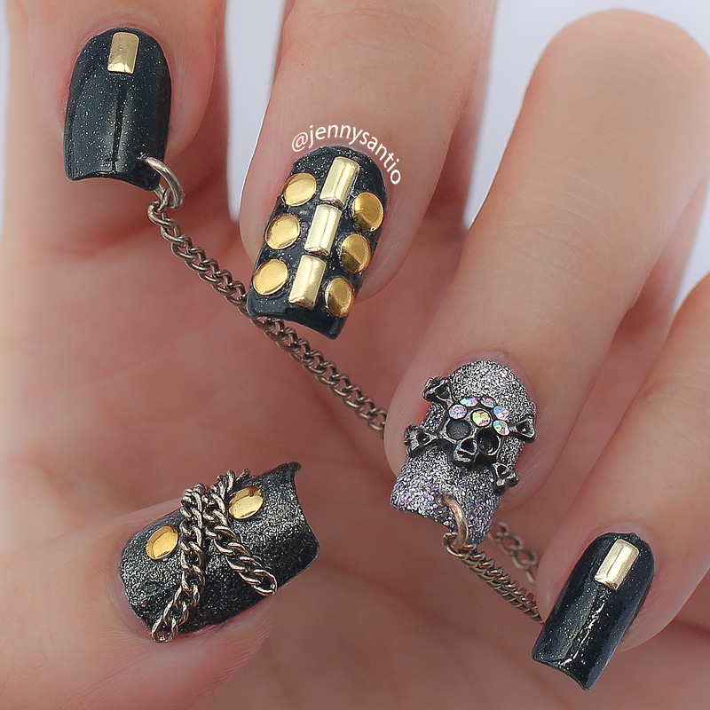 fierce!  nail art by Jenny sanyoto