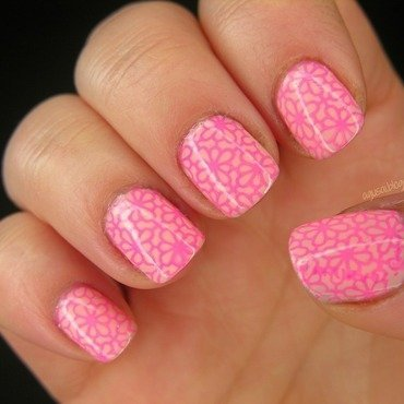 Neon on pastel nail art by Agni