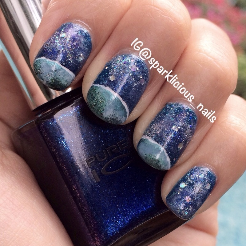 """Our Planet Earth nail art by Amanda """"Sparklicious Nails"""""""