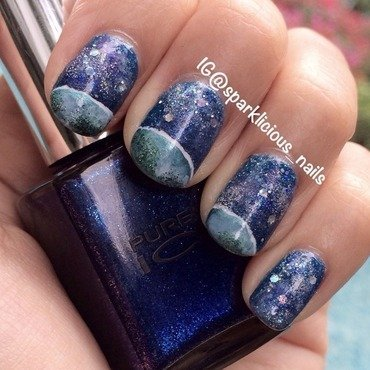 "Our Planet Earth nail art by Amanda ""Sparklicious Nails"""