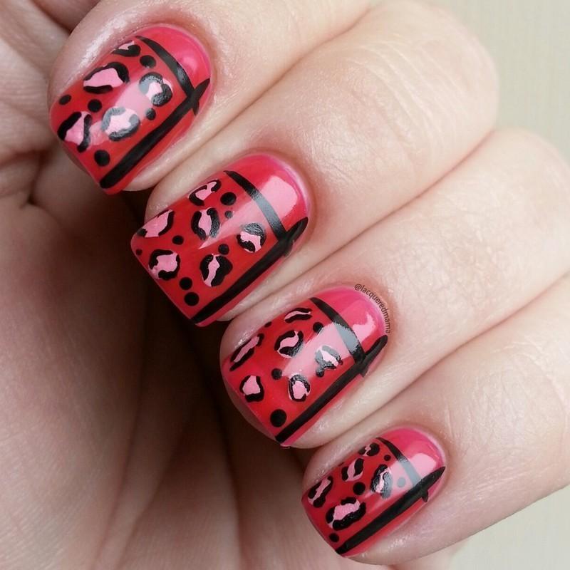 Funky Cheetah nail art by Jennifer Collins