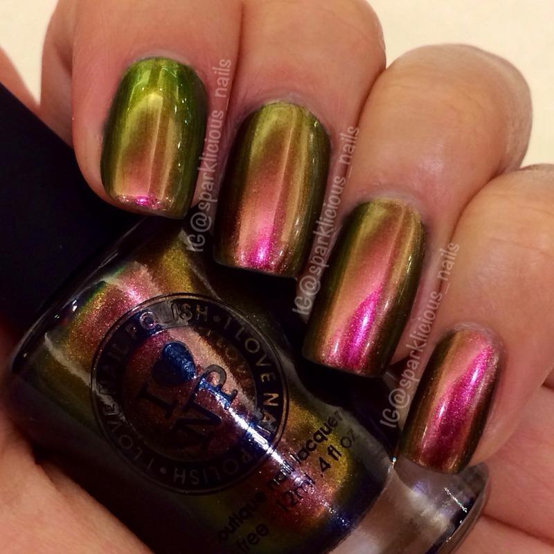 "ILNP Nostalgia Swatch by Amanda ""Sparklicious Nails"""