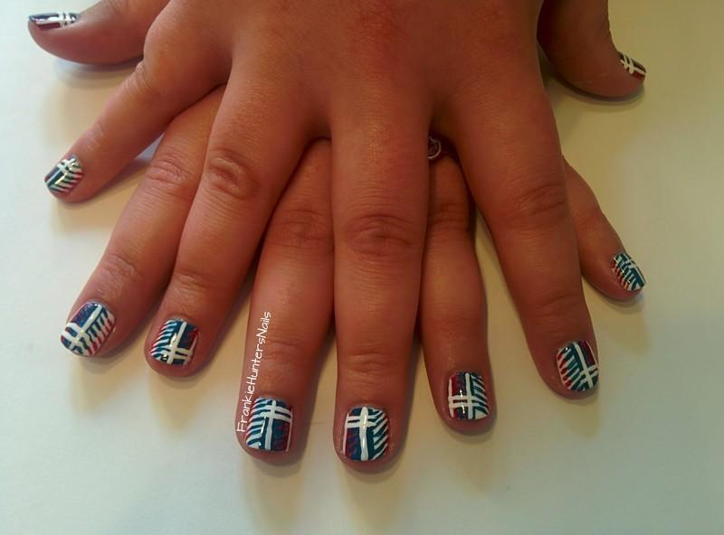 Squared nail art by Franziska FrankieHuntersNails