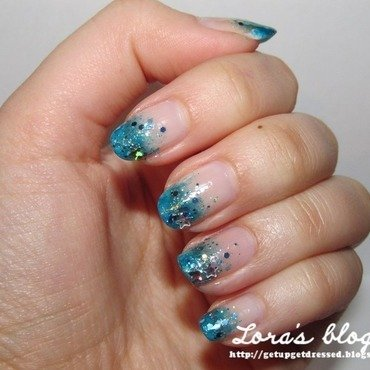 Mermaid nail art by Lora