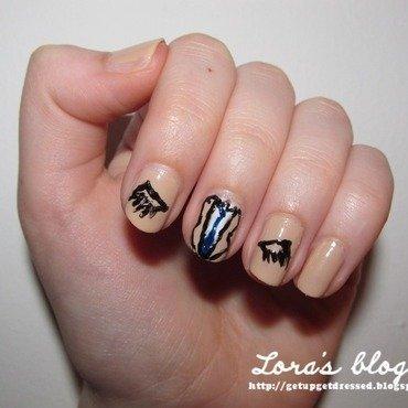 Castiel nails nail art by Lora