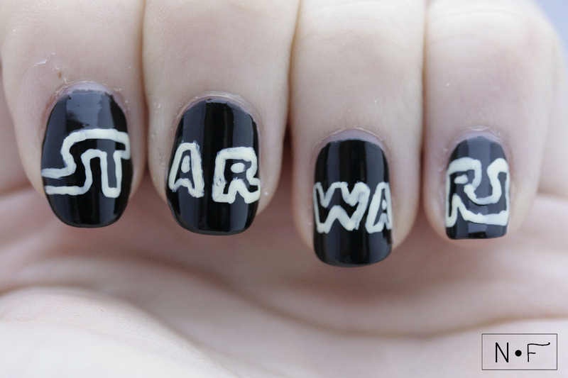 Star Wars nail art by NerdyFleurty