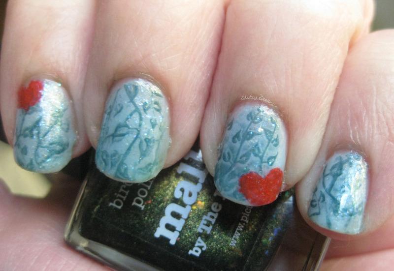 Garden Memories nail art by Andi