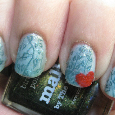 Garden Memories nail art by Andi