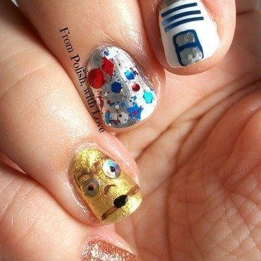 May the fourth nail art c3po r2d2 thumb370f