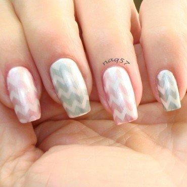 Pearly Chevrons nail art by Nora (naq57)
