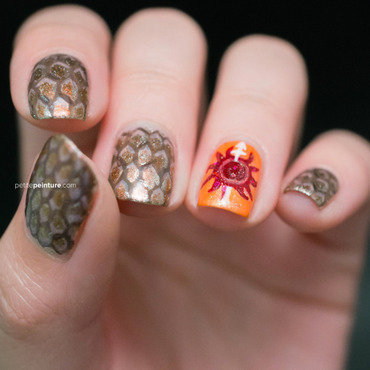 Game of Thrones | House Martell nail art by Petite Peinture